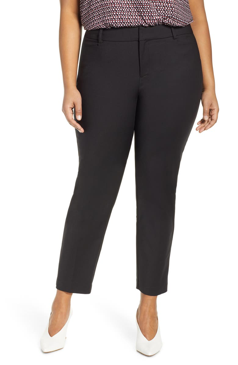 ELOQUII 'Kady' Ankle Pants, Main, color, 002