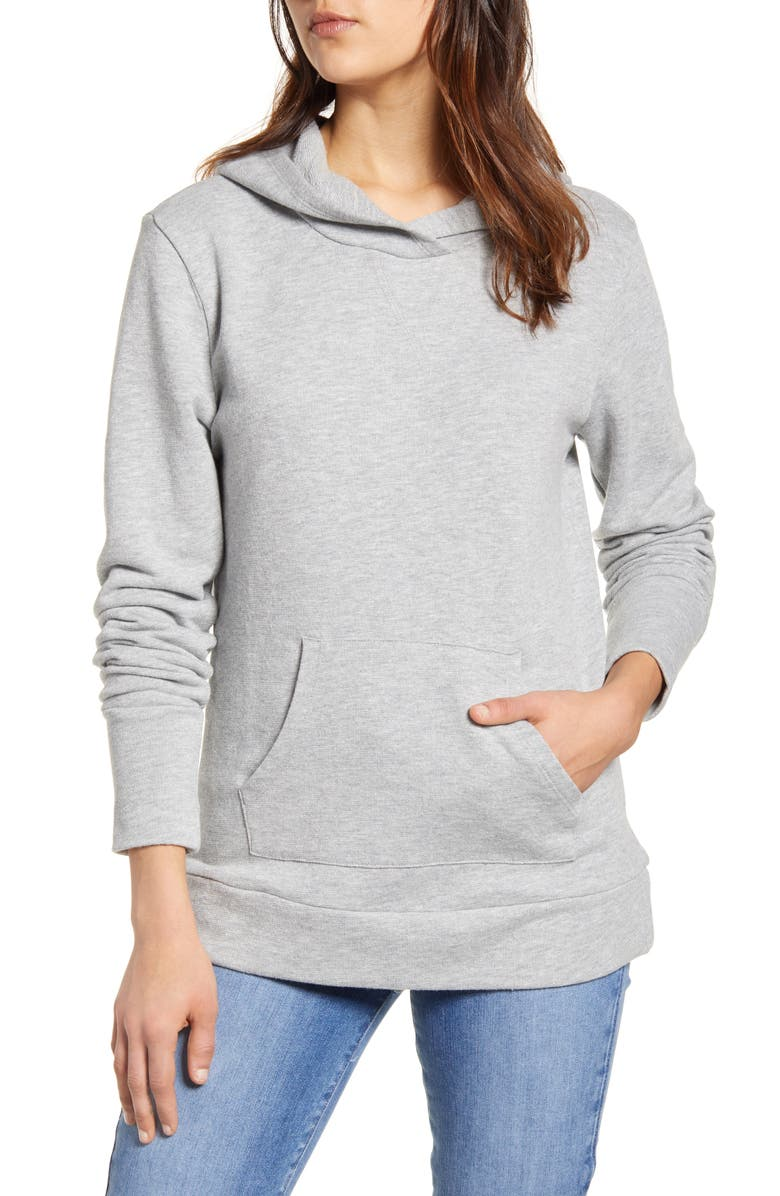 CASLON<SUP>®</SUP> Shimmer Pullover Hoodie, Main, color, 030