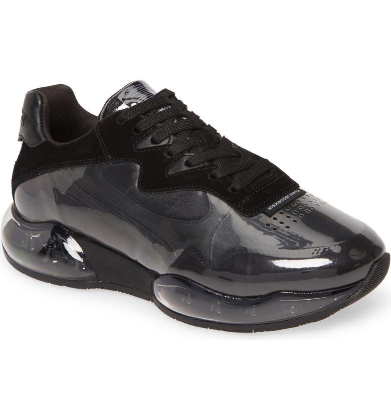 ALEXANDER WANG Stadium Low Top Sneaker, Main, color, BLACK