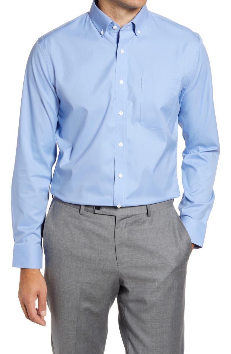 NORDSTROM Assorted 3-Pack Smartcare<sup>™</sup> Trim Fit Dress Shirt, Main, color, BLUE HYDRANGEA