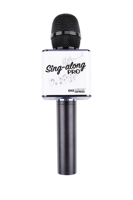 Image of WIRELESS EXPRESS Singalong Pro Karaoke Microphone - Black