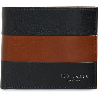 Ted Baker London Contrast Leather Bifold Wallet - Blue