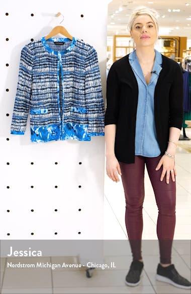Woven Trim Knit Jacket, sales video thumbnail