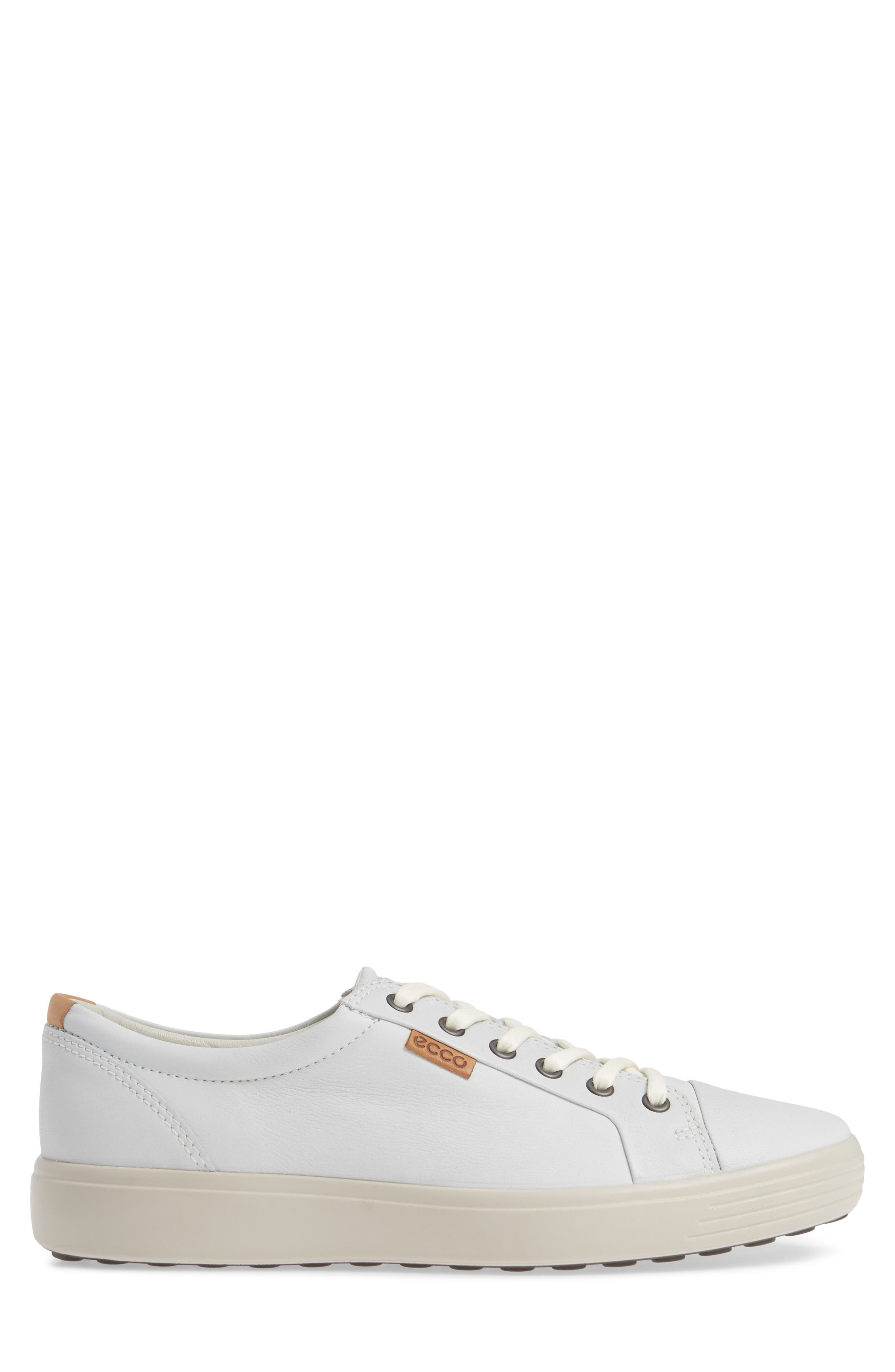 ,                             Soft VII Lace-Up Sneaker,                             Alternate thumbnail 3, color,                             WHITE LEATHER