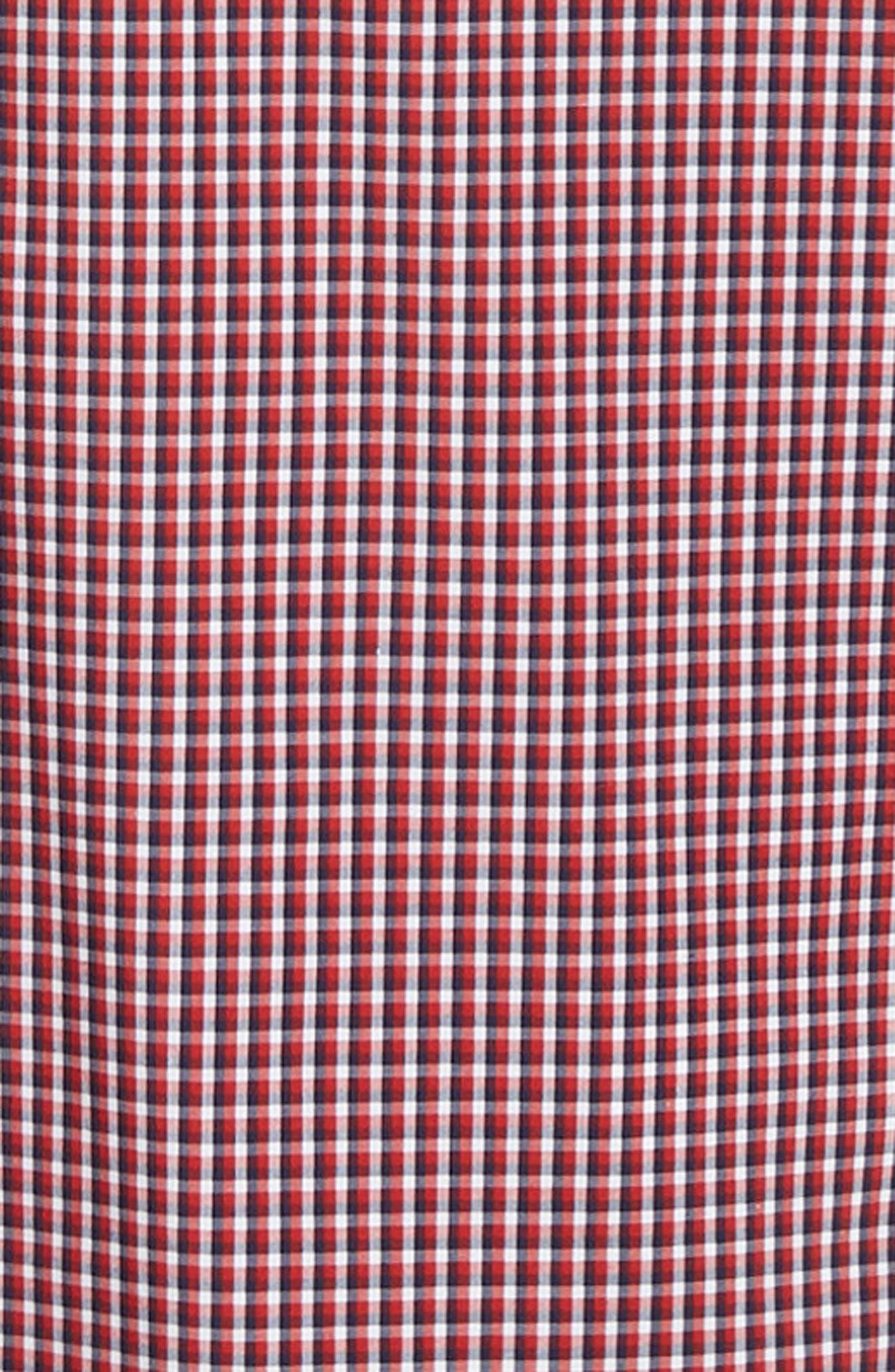 ,                             Tech-Smart Regular Fit Check Sport Shirt,                             Alternate thumbnail 6, color,                             RED POMPEII NAVY CHECK