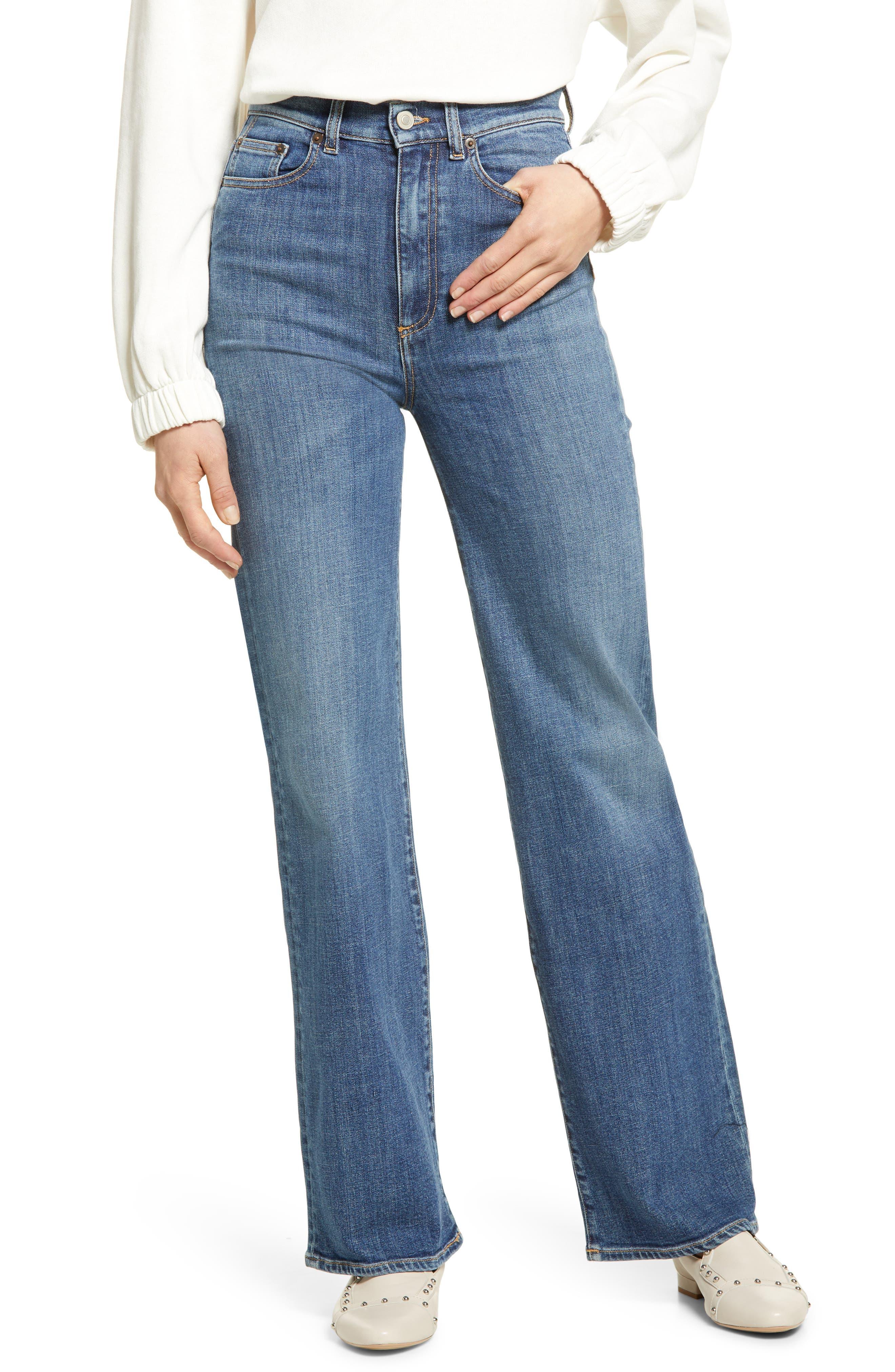 Pyramid High Waist Flare Jeans