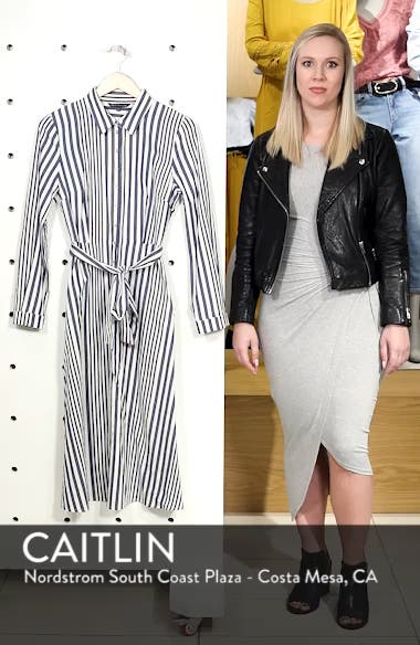 Rachel Stripe Shirtdress, sales video thumbnail