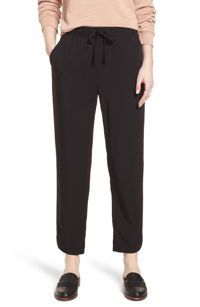 MADEWELL Drawstring Track Trousers, Main, color, 001