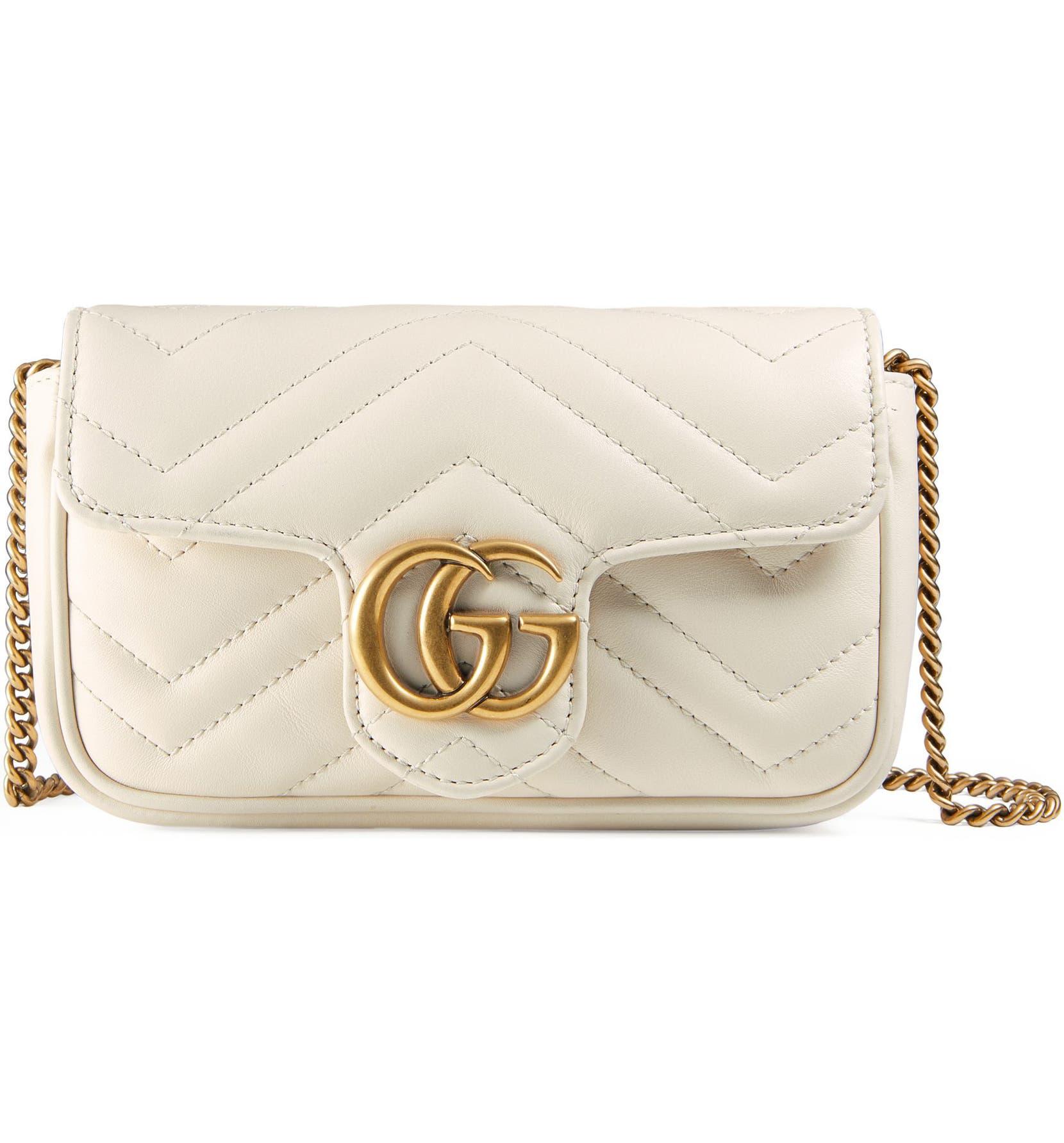 9665770d0522 Gucci Supermini GG Marmont 2.0 Matelassé Leather Shoulder Bag | Nordstrom