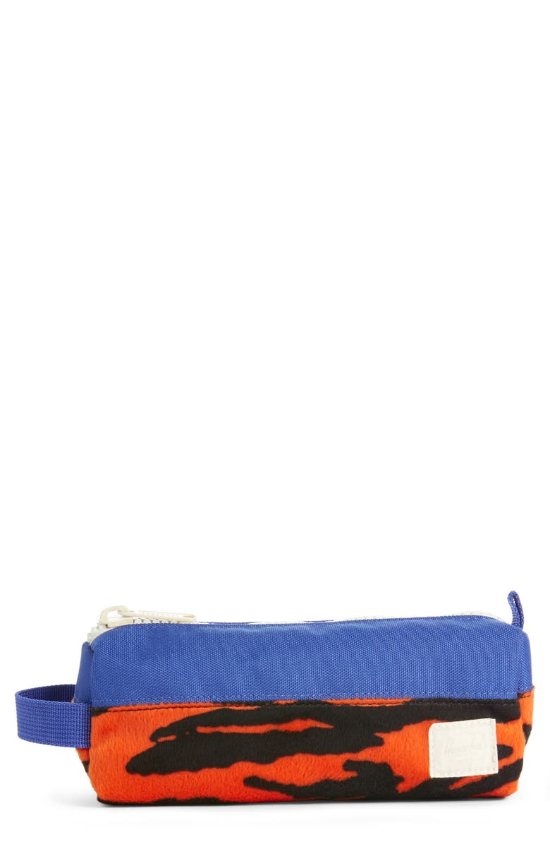 HERSCHEL SUPPLY CO. X-Small Settlement Case, Main, color, TIGER/ ROYAL BLUE
