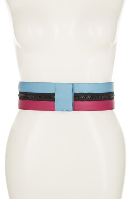 Image of Missoni Colorblock Wide Belt With Zipper Detailing