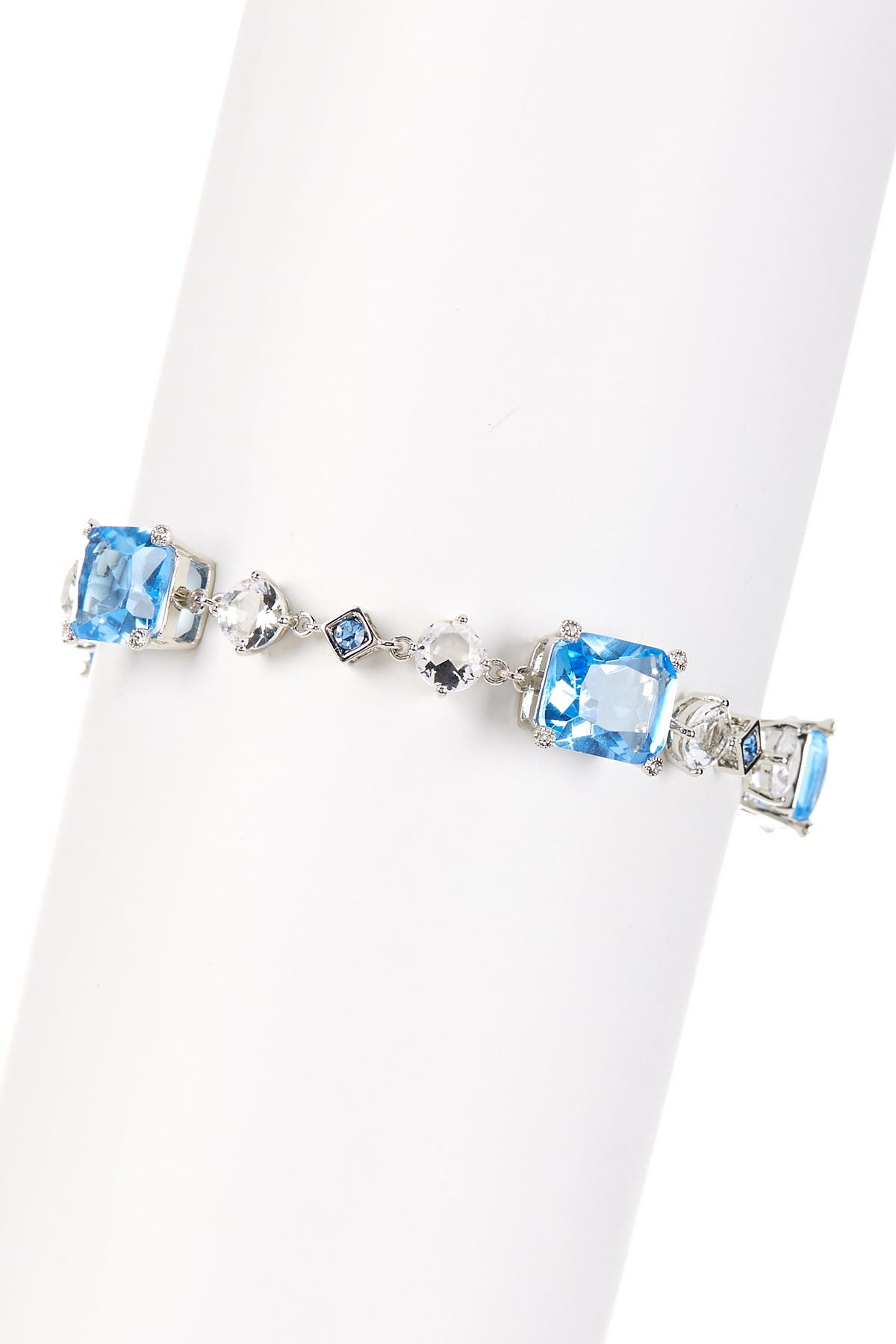 Image of Carolee Newport Nouveau Blue & White Station Bracelet