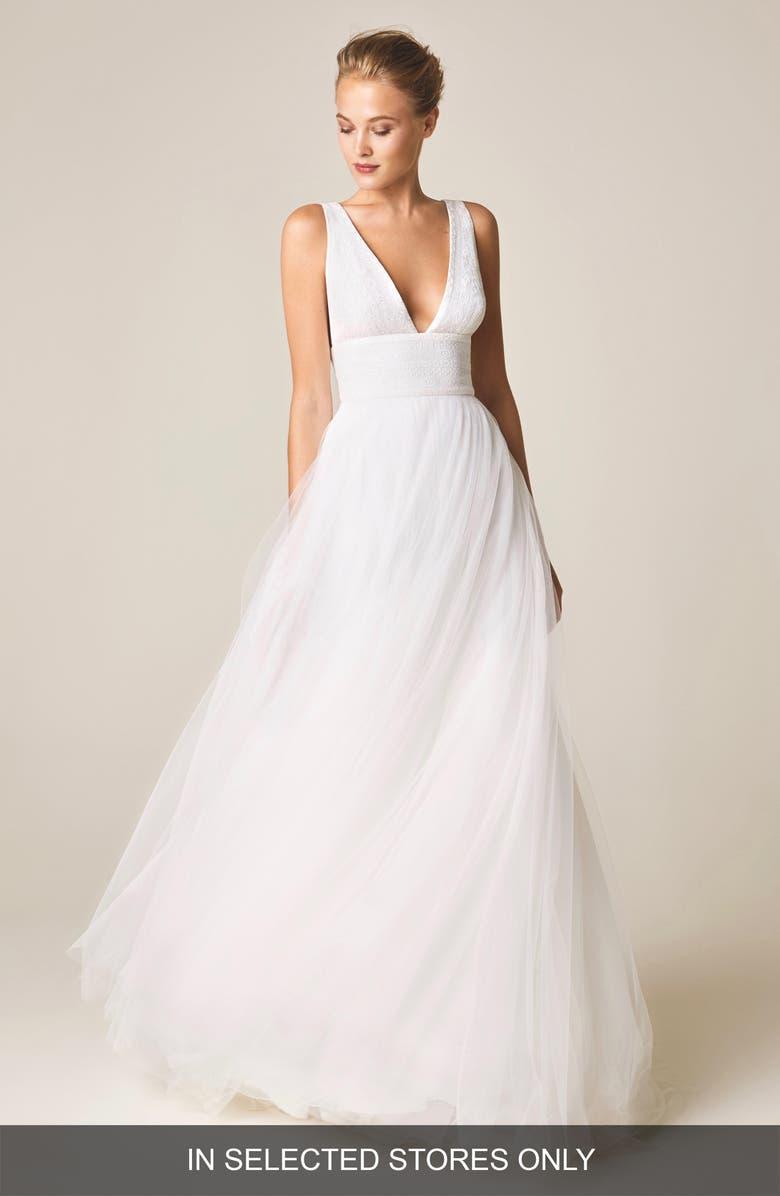3877ebd3a0f6 V Neck Tulle Skirt Dress - raveitsafe