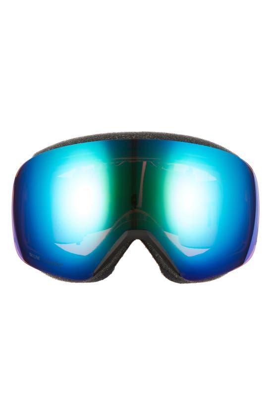 Smith Skyline 205mm Chromapop Snow Goggles In Black/ Everyday Green Mirror