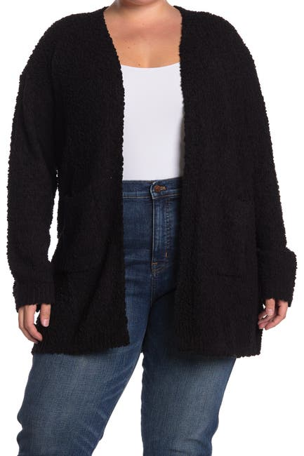 Image of Bobeau Boucle Knit Open Front Cardigan