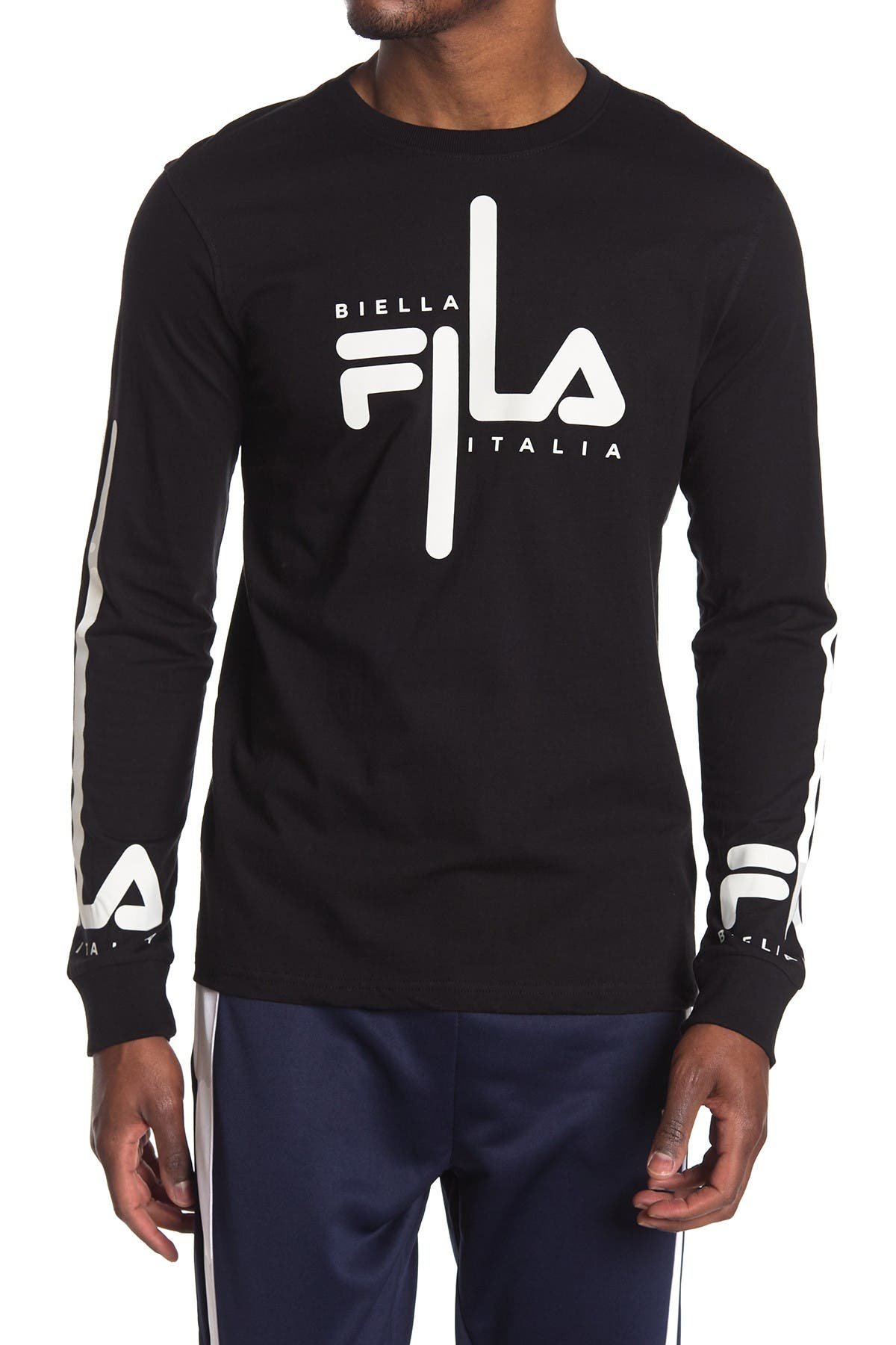 Image of FILA USA Martino Graphic Long Sleeve Shirt