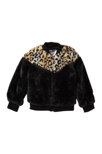 Image of Kensie Girl Faux Fur Pieced Bomber Jacket