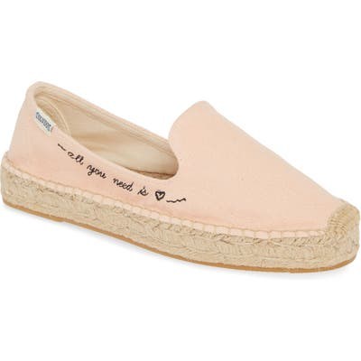 Soludos All You Need Espadrille Flat- Pink