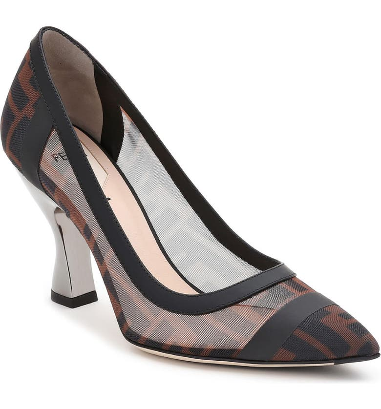 FENDI Colibri Logo Pump, Main, color, BLACK