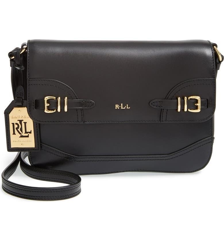 a07077264 Lauren Ralph Lauren 'Medium Lauren' Leather Crossbody Bag | Nordstrom