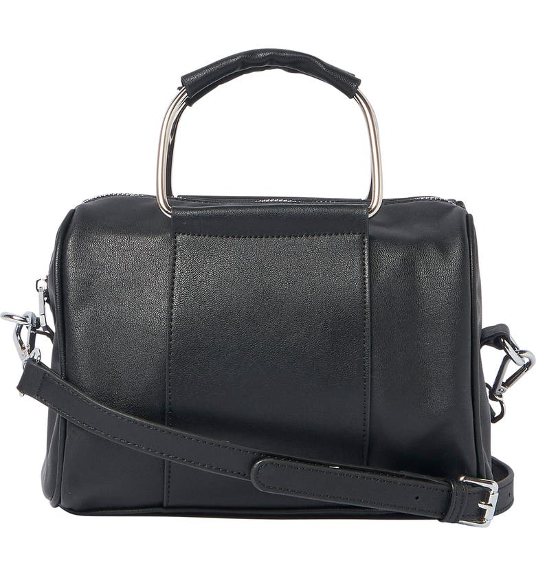URBAN ORIGINALS Hey World Vegan Leather Crossbody Bag, Main, color, BLACK