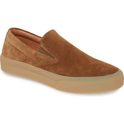 John Varvatos Star Usa MAC Skate Slip-On Sneaker, Brown