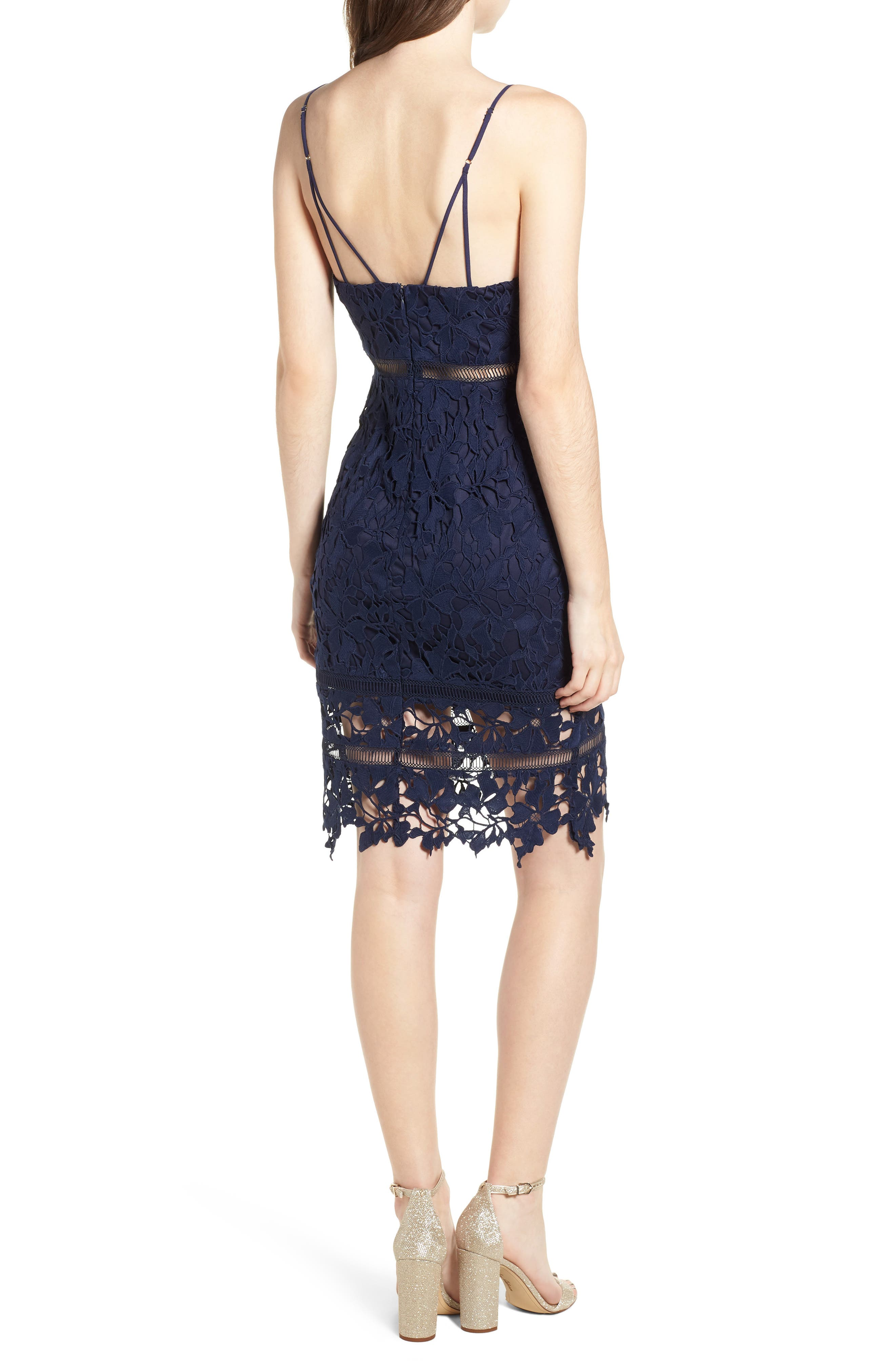 ,                             ASTR Lace Bodycon Dress,                             Alternate thumbnail 9, color,                             400