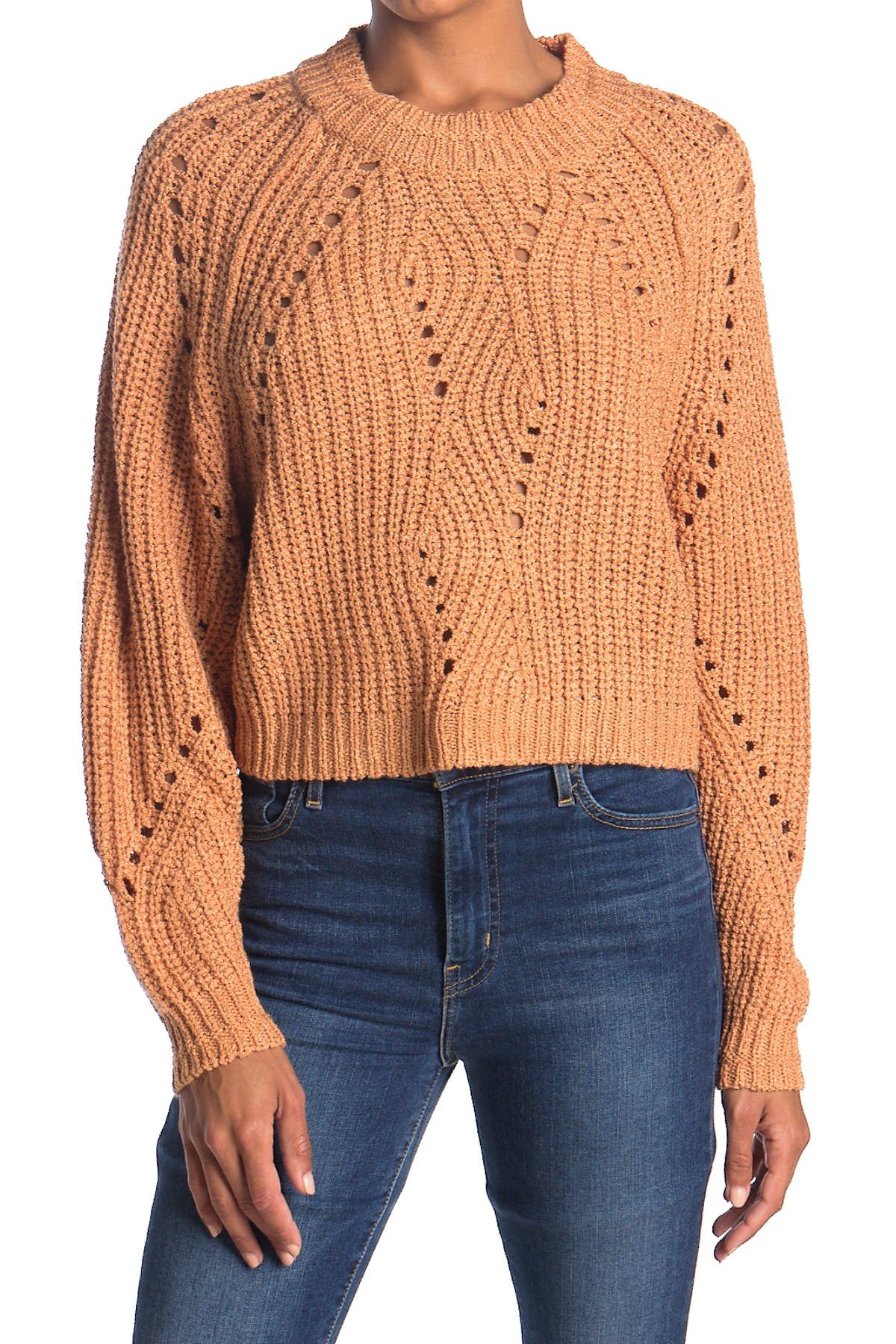 Image of Lush Pointelle Knit Sweater
