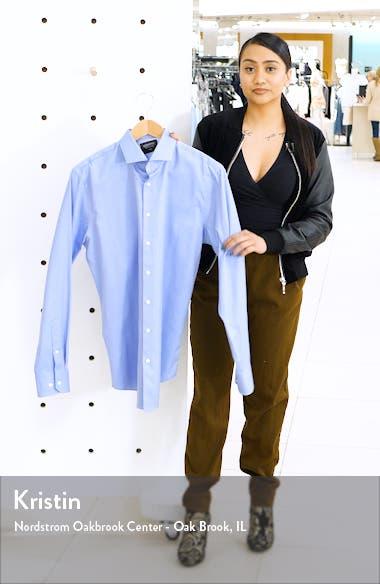 Nordstrom Trim Fit Herringbone Dress Shirt, sales video thumbnail
