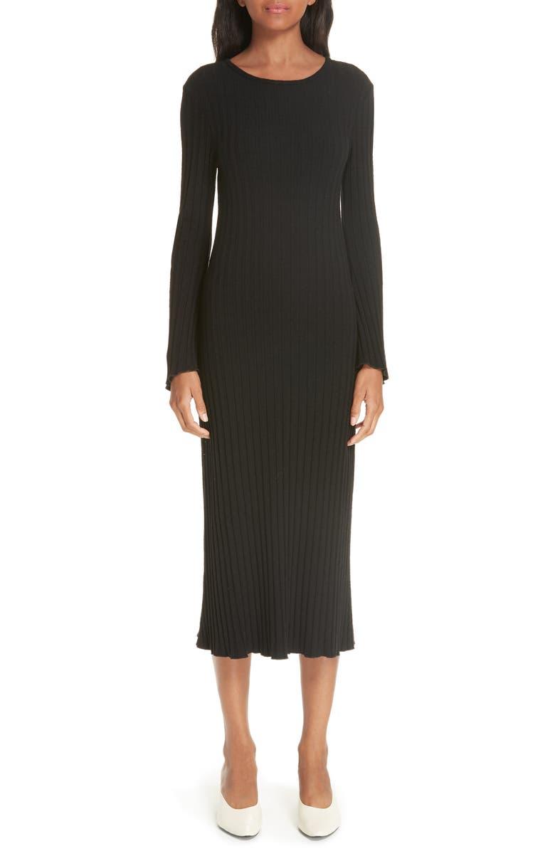 SIMON MILLER Rib Dress, Main, color, 001