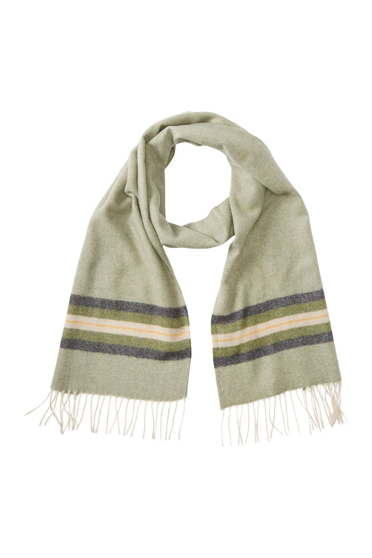 Image of Chelsey Imports Border Stripe Cashmere Scarf