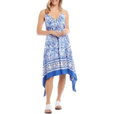 Karen Kane Border Print Sundress, Blue