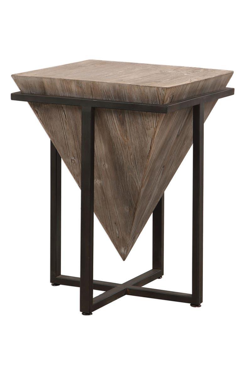 UTTERMOST Bertrand Accent Table, Main, color, BLACK/ WOODTONE