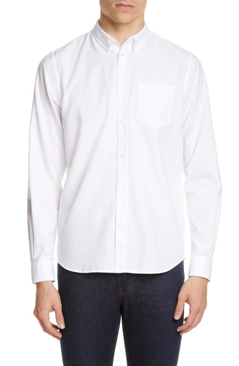 NORSE PROJECTS Anton Oxford Button-Down Shirt, Main, color, WHITE