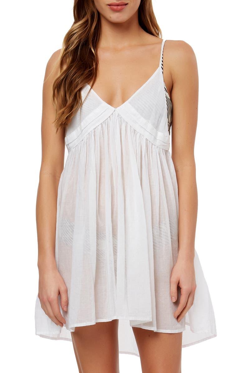 O'NEILL Felix Cover-Up Minidress, Main, color, WHITE