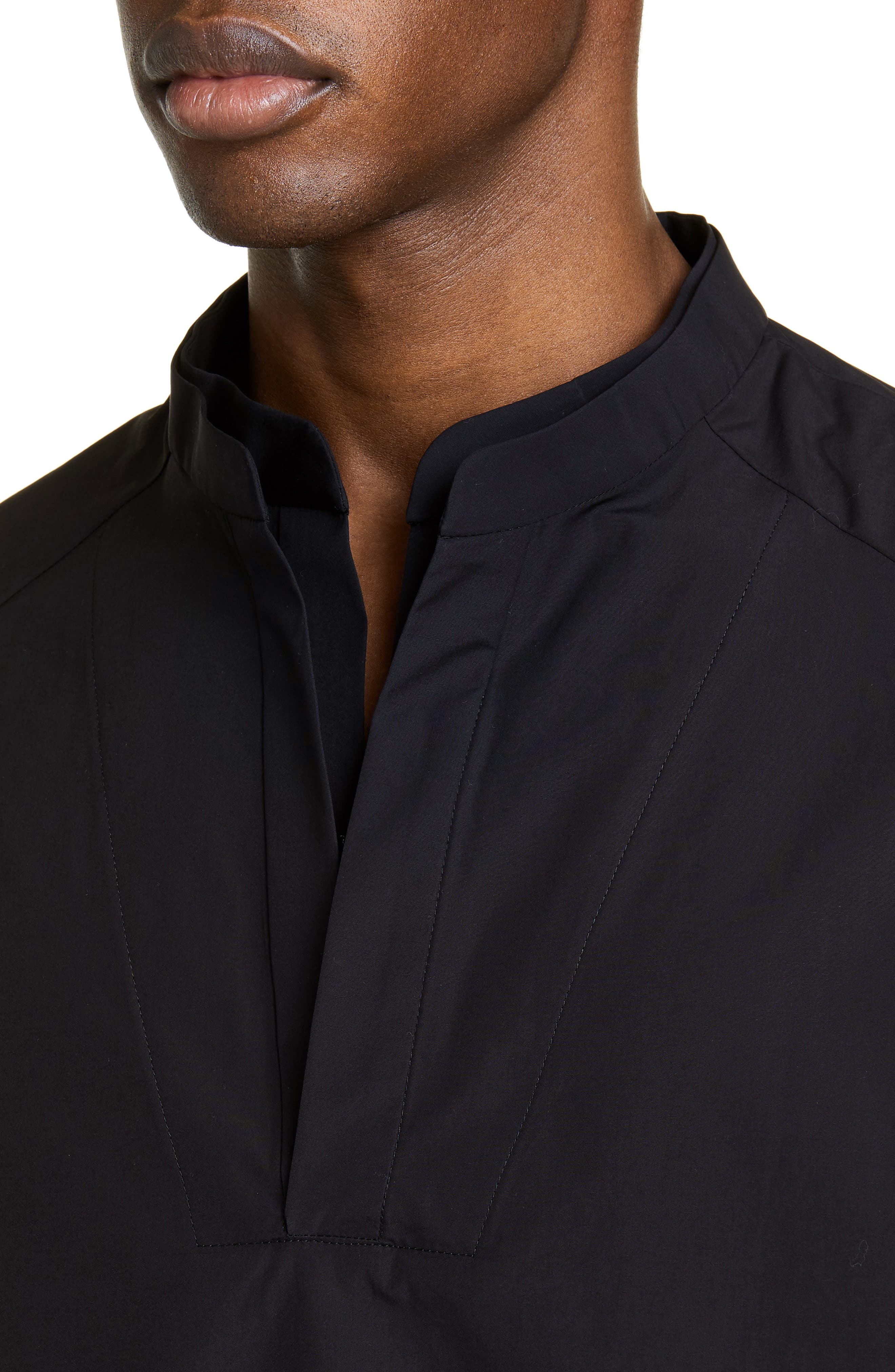 ,                             Mandarin Collar Shirt,                             Alternate thumbnail 2, color,                             001