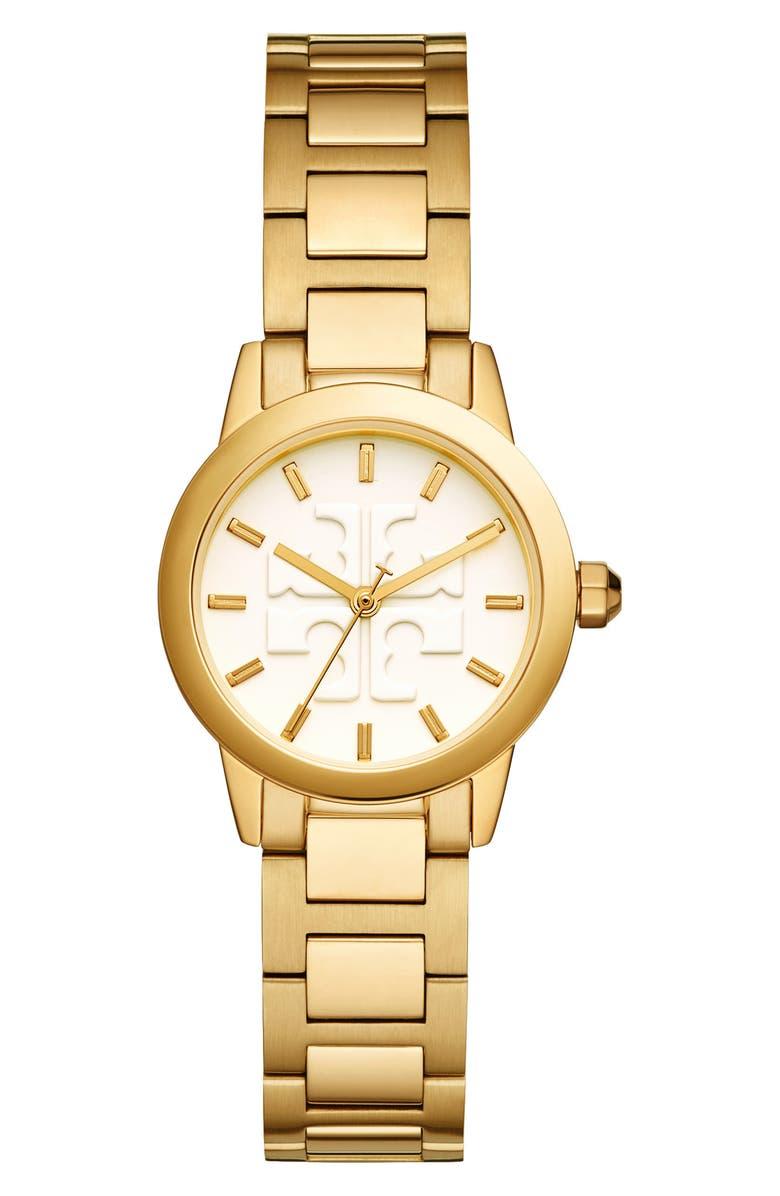 TORY BURCH Gigi Bracelet Watch, 28mm, Main, color, 710