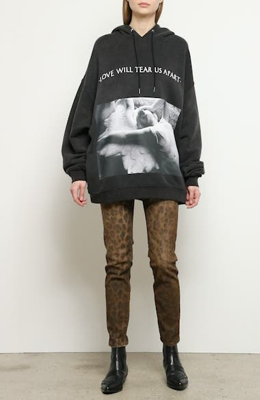 'Love Will Tear Us Apart' Oversize Hoodie, video thumbnail