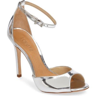 Schutz Saasha Lee Ankle Strap Sandal- Metallic