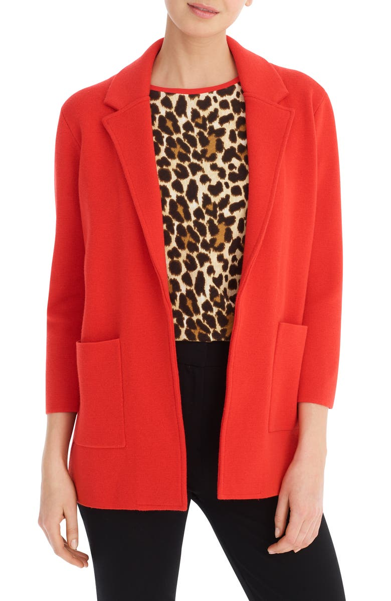 J.CREW New Lightweight Sweater Blazer, Main, color, BRIGHT CERISE