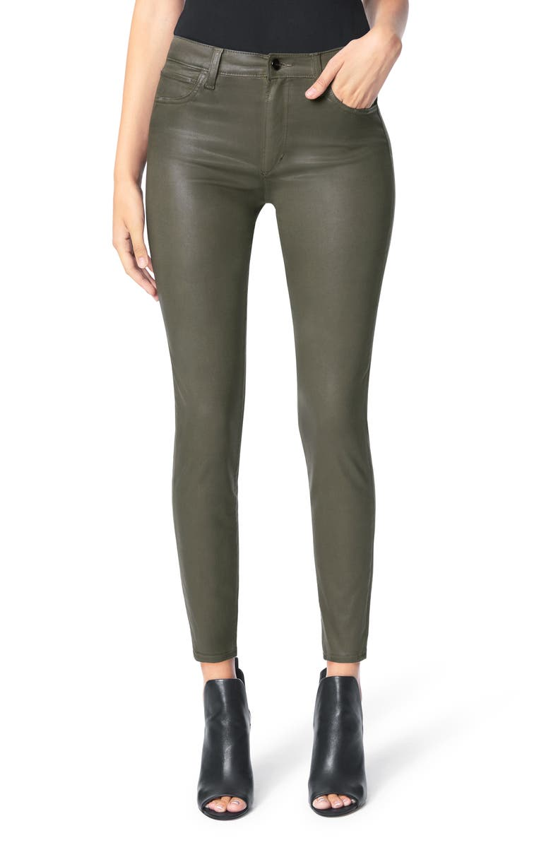 JOE'S The Charlie Coated Ankle Skinny Jeans, Main, color, AUTUMN SAGE