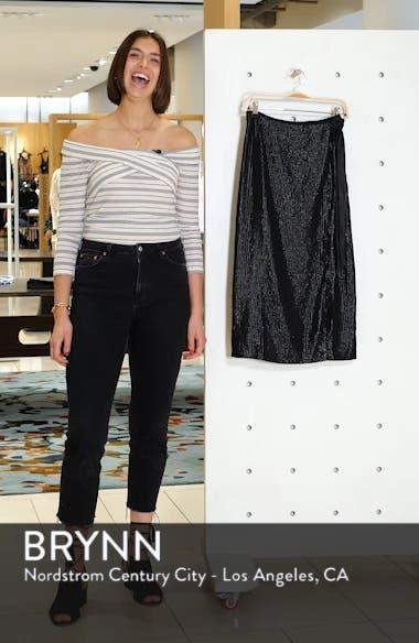 Wrap Sequin Midi Skirt, sales video thumbnail