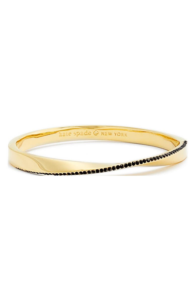 KATE SPADE NEW YORK do the twist pavé bangle, Main, color, 711