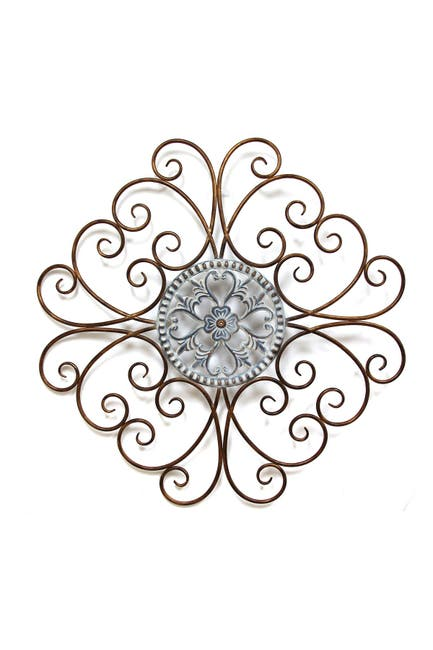 Image of Stratton Home Scroll Medallion Wall Decor