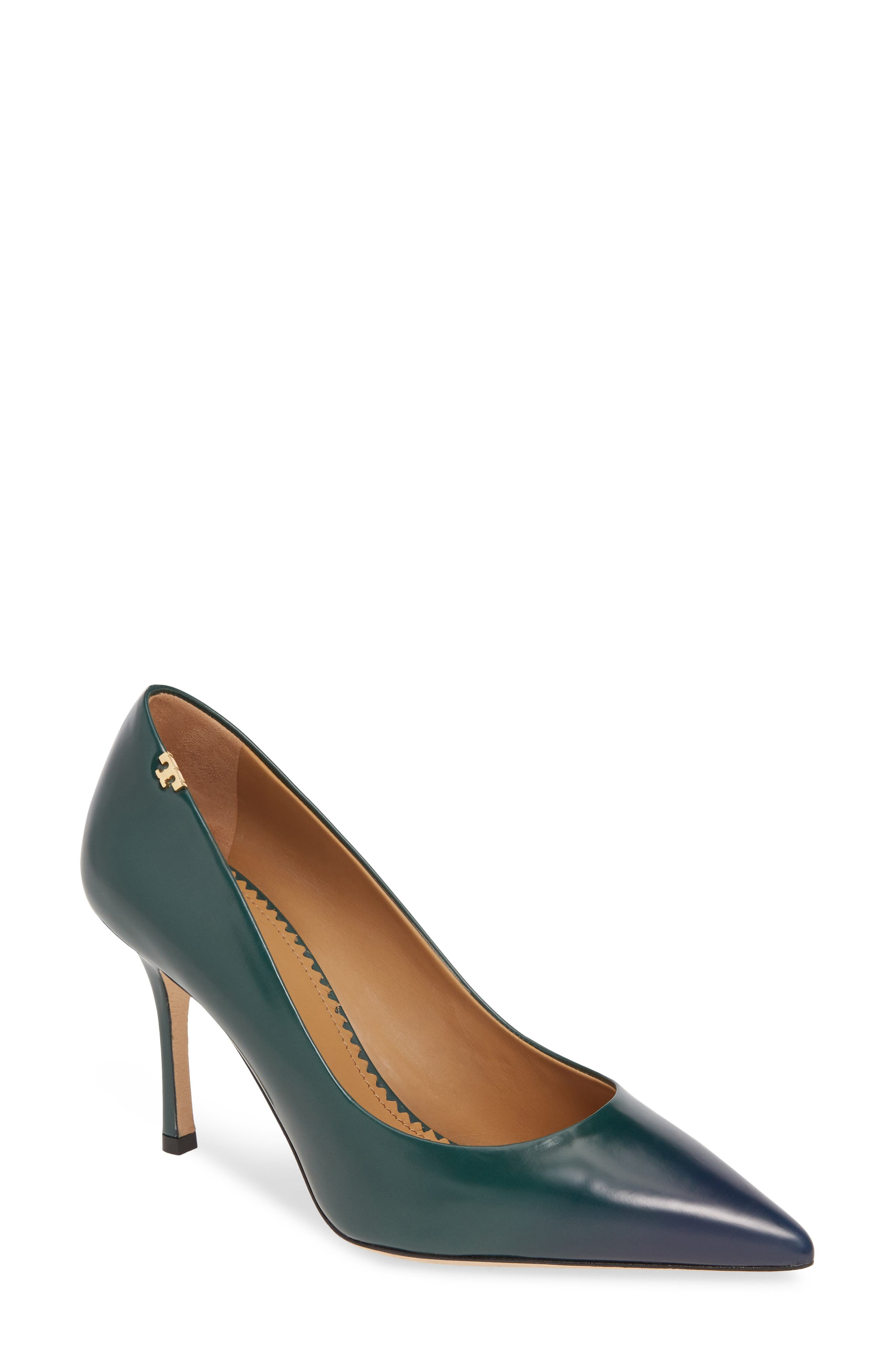 Tory Burch Penelope Ombre Pointy Toe Pump, Green