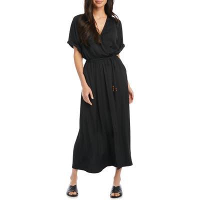 Karen Kane Cuffed Sleeve Midi Dress, Black