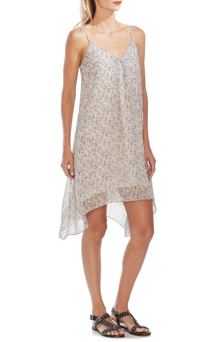 VINCE CAMUTO Shadow Etching Slipdress, Main, color, NEW IVORY