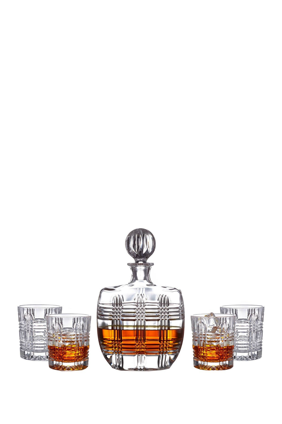Image of Jay Import Fitz and Floyd Bridgeport 5-Piece Decanter and Old Fashion Glass Set