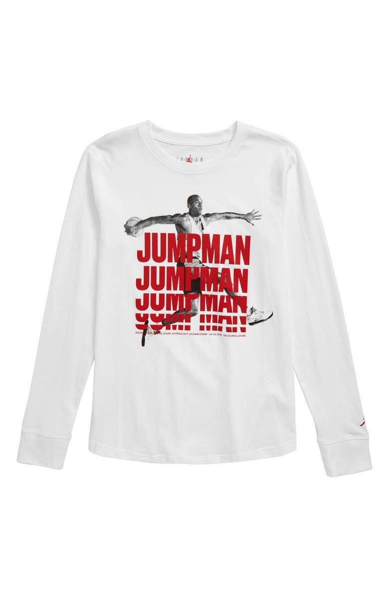 JORDAN Jumpman Stack Graphic T-Shirt, Main, color, WHITE