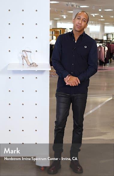 Cinzia Snake Embossed Ankle Strap Sandal, sales video thumbnail
